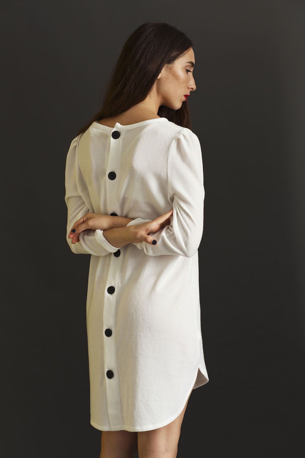 LIAHFASHION white Madison tunic dress no.2